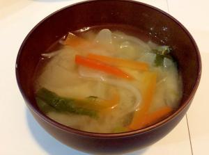 4種の野菜味噌汁