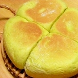 米粉ブレンドの炊飯器パン☆抹茶ラテの幸せのアンパン