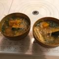 優しい甘さの、かぼちゃと玉ねぎの味噌汁