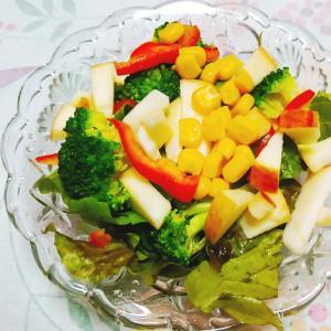 ブロッコリーとリンゴのサラダ