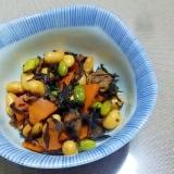 時短!大豆とひじきの煮物++