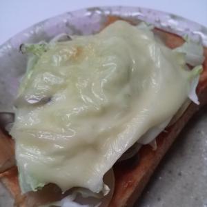 きのこキャベツチーズトースト