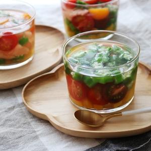 ボデガカップで 夏野菜のゼリー寄せ