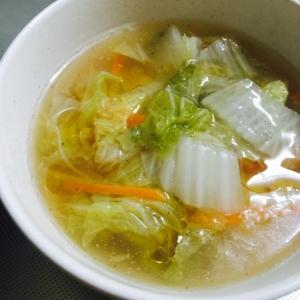 白菜とにんじんのとろみ中華スープ