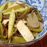 春の山菜「ワラビとフキ・タケノコ田舎煮」