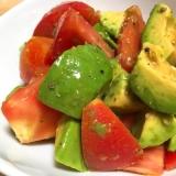 簡単☆アボカドとトマトdeわさびポン酢サラダ
