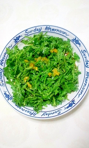 簡単だけど美味しい春菊のサラダ
