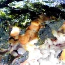納豆の食べ方-韓国海苔♪