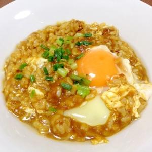 めんつゆで☆卵カレーリゾット