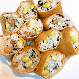 ヒジキと青豆の☆美味しいいなり寿司