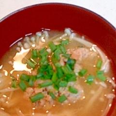 えのきと納豆の味噌汁