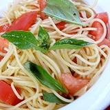 安くてヘルシー❤トマト&バジルのスパゲティー♪