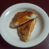 卵入り油揚げの炒め煮
