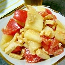 簡単(/・ω・)/トマトと鶏ハムとカブのサラダ☆