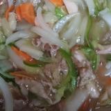 八宝菜で海鮮お焦げ風中華飯
