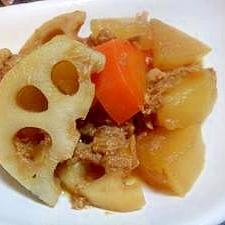 圧力鍋で簡単!根菜とツナの煮物