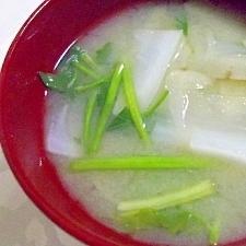 きりたんぽ鍋風のお味噌汁