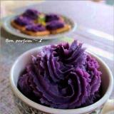 おもてなしに紫芋クリームでカナッペ