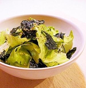 簡単!レタスと韓国海苔のサラダ