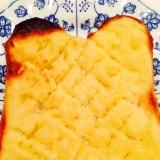 メロンパン風のトースト