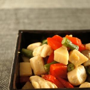鶏と野菜のコロコロ五目炒め♪