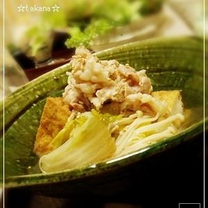 厚揚げと白菜の京風炊いたん.:*:・'☆