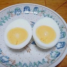 真空保温調理鍋で 固ゆで卵