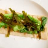 おつまみに☆青菜&焼肉のタレ&マヨ 焼き酒粕