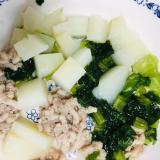 ⁑離乳食カミカミ期⁑ひき肉の野菜サラダ煮
