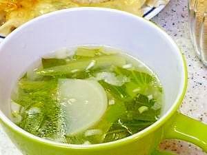 ゆで鶏de中華風スープ