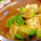 簡単おつまみ!アボカドと長芋のコロコロサラダ