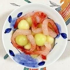 瓜と海老の和え物