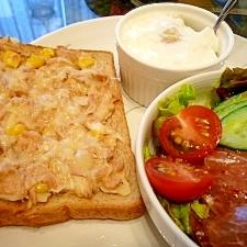 朝食に★ツナマヨコーン*トースト*隠し味も♪