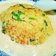 ぴりっと大人味、W明太子の餡かけ炒飯