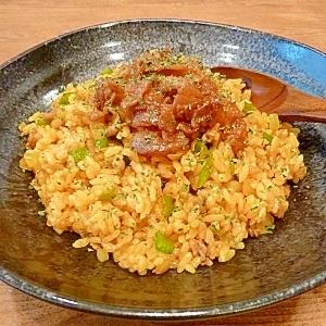 豚バラで美味☆カレー炒飯(ドライカレー)