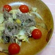 牛肉の柚子こしょうマヨネーズ炒め