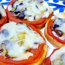 ナスとトマトのオープントースト☆