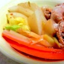 ピリ辛豚しゃぶ鍋