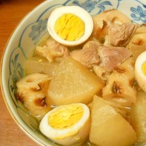 プリプリ大根ちくわ鶏肉煮とダイアモンドゆで卵☆