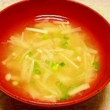 毎日のお味噌汁101杯目*エノキ茸、細葱