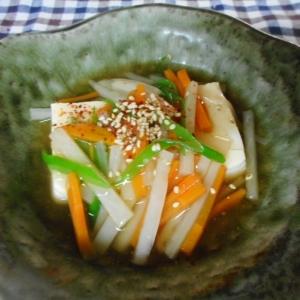 豆腐、大根、にんじん、とろみ煮
