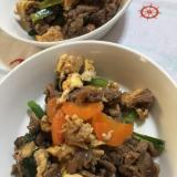 牛こま肉と小松菜のオイスター炒め