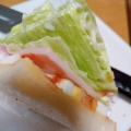 レタスとハムのシンプルサンドイッチ