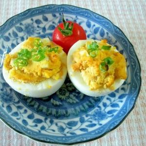 【お手伝いレシピ】☆ゆで卵のオーロラソース焼き☆