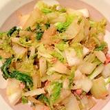 白菜と明太子炒め