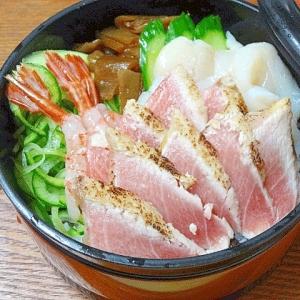 函館特選グルメ☆ 「トロ炙り海鮮ちらし」