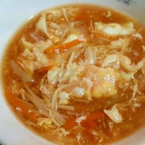 トマトジュースを使ったかき玉スープ