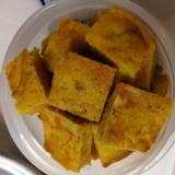 【離乳食後期】かぼちゃとひき肉の一口ホットケーキ