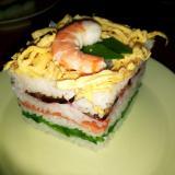 ひな祭り ひし餅型お寿司