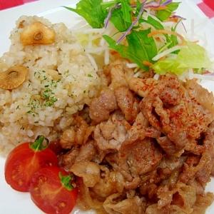 ご飯がススム☆豚肉のにんにく味噌焼き
